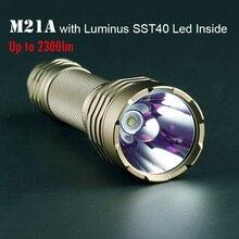 High Powerful Flashlight Convoy M21A with Luminus SST40 2300lm Linterna Led C8+ Plus 21700 Flash Light Torch Tactical Lantern