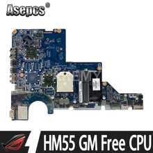 CQ42 motherboard For HP 623915-001 CQ62 G42 G62 laptop motherboard DDR3 HM55 GM Free CPU