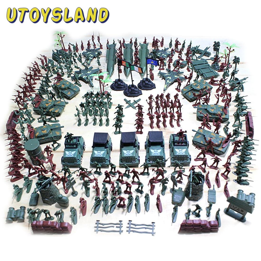 301Pcs 5cm Plastic Soldier Model World War II Soldier Military Toy Set For Children