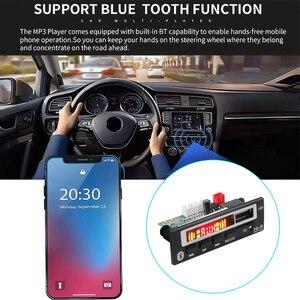 Image 5 - 5V 12V Mp3 décodeur Module de carte USB 3.5mm AUX Bluetooth FM Radio V5.0 récepteur sans fil 1 Din musique haut parleur voiture Kit