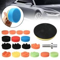 18Pcs 3'' Polishing Sponge Polishing Attachment Drill Polishing Pad Set For Car Polisher Sponge Pad + Polishing Wheel