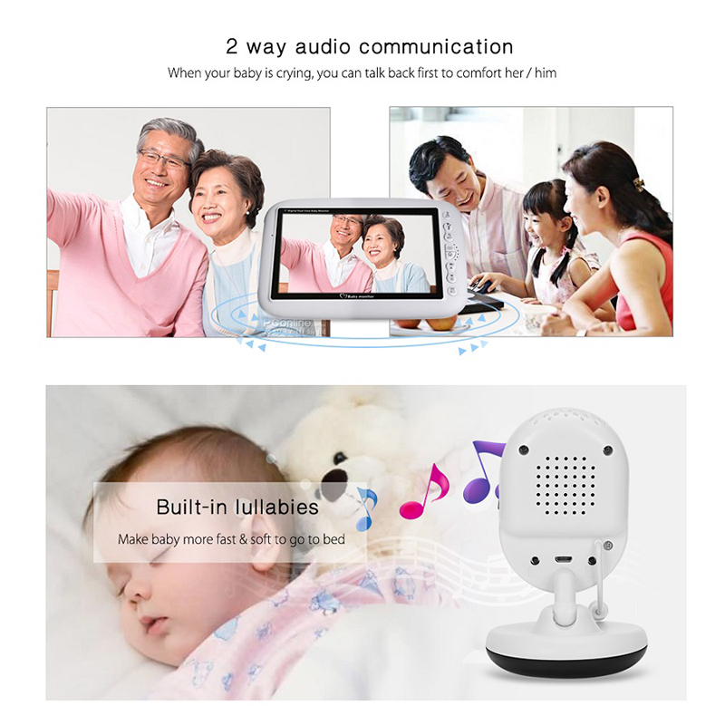 Image 5 - Neng  Wireless Video Baby Monitor Night Vision Camera Video 7 inch LCD Sreen Temperature Sensor 2 Way Audio Talk Nanny Monitor-in Baby Monitors from Security & Protection