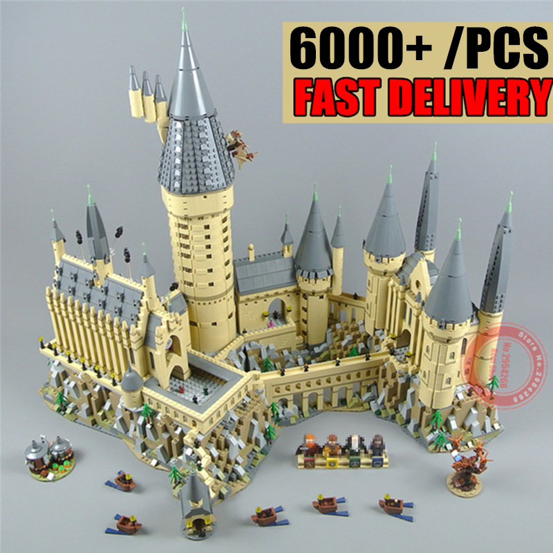 New Movie Harri Magic Hogwartsed Castle Fit Legoings Villa House Building Blocks Bricks Kid Fit 71043 Kid DIY Toys Gift Birthday