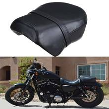 купить Motorcycle Cafe Racer Seat Saddle Flat pan Retro Seat Rear Pillion Seat Pad Cushion For Harley Sportster 883C 883N 883XL1200N онлайн