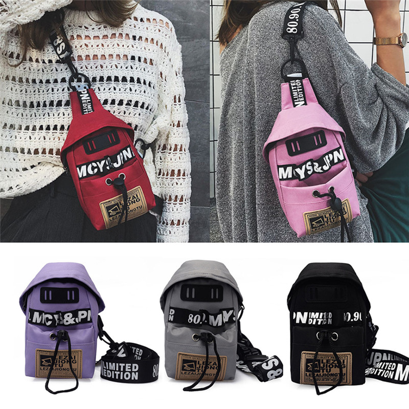 6 Colors Men Women Nylon Crossbody Shoulder Chest Cycle Sling Bag Daily Travel Bags