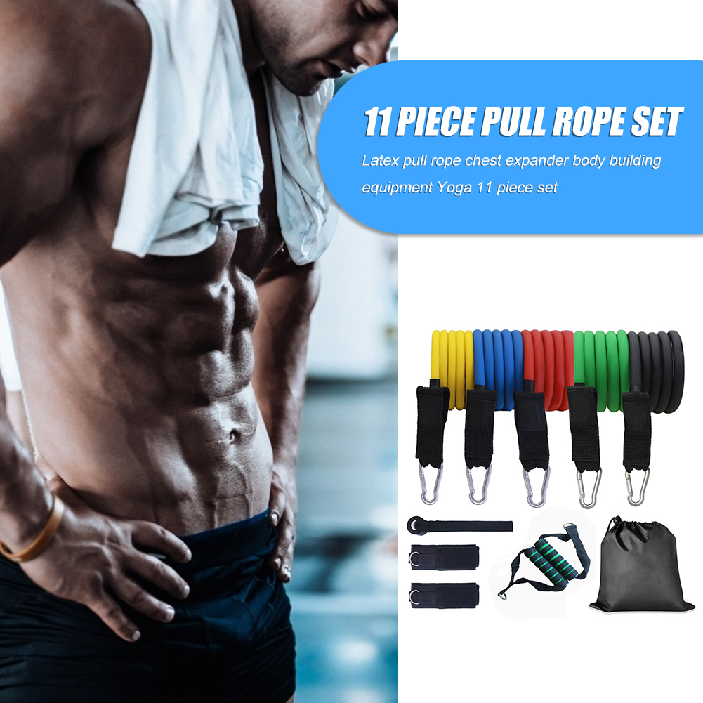11X Resistance Bands Pull Rope Weight Loss Home Equipment Yoga Fitness Exercise