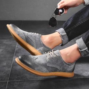 Image 4 - גברים שטוח הולו פלטפורמת נעלי אוקספורד סגנון בריטי מטפסי נעל מבטא זכר תחרה עד נעליים בתוספת גודל 38 46 נעליים יומיומיות