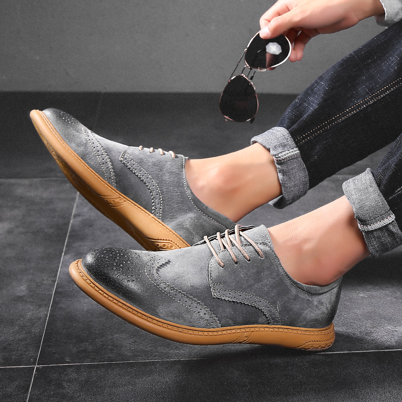 Image 4 - Men Flat Hollow Platform Shoes Oxfords British Style Creepers Brogue Shoe Male Lace Up Footwear Plus Size 38 46 Casual ShoesFormal Shoes   -