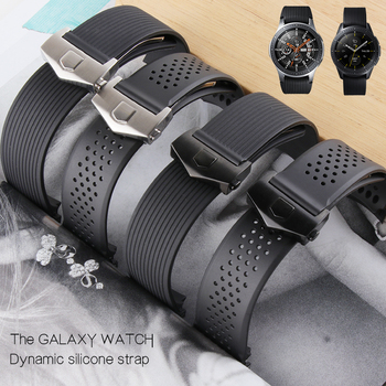 20mm 22MM Curved End Watch Bands For Samsung Galaxy Gear S3 S4 Strap Soft Rubber Silicone Watchband Man Replacement Watch Wrist
