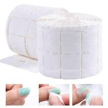 500 шт/рулон, хлопковые салфетки для ногтей, УФ-гель, для ногтей, для снятия лака, очиститель, ворс, бумажный коврик, впитывающий, для ногтей, для чистки, Маникюрный Инструмент LA918