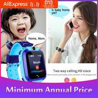 BEESCLOVER Kids Smart Watch Q12B Phone Watch for Android IOS Life Waterproof LBS Positioning 2G Sim Card Dail Call