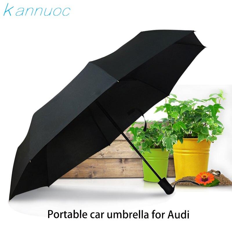 Car Automatic Logo Men Women Rain Umbrella For Audi S Line Sline A3 A4 B6 B5 A1 B7 B8 A7 Q3 Q5 Q7 S4 RS4 A5 S5 RS5 S6 S7 A8
