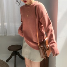 2019 Winter Women s Sweater New Harajuku Korean Fashion Retro Long sleeved Warm Pullover Knit Loose