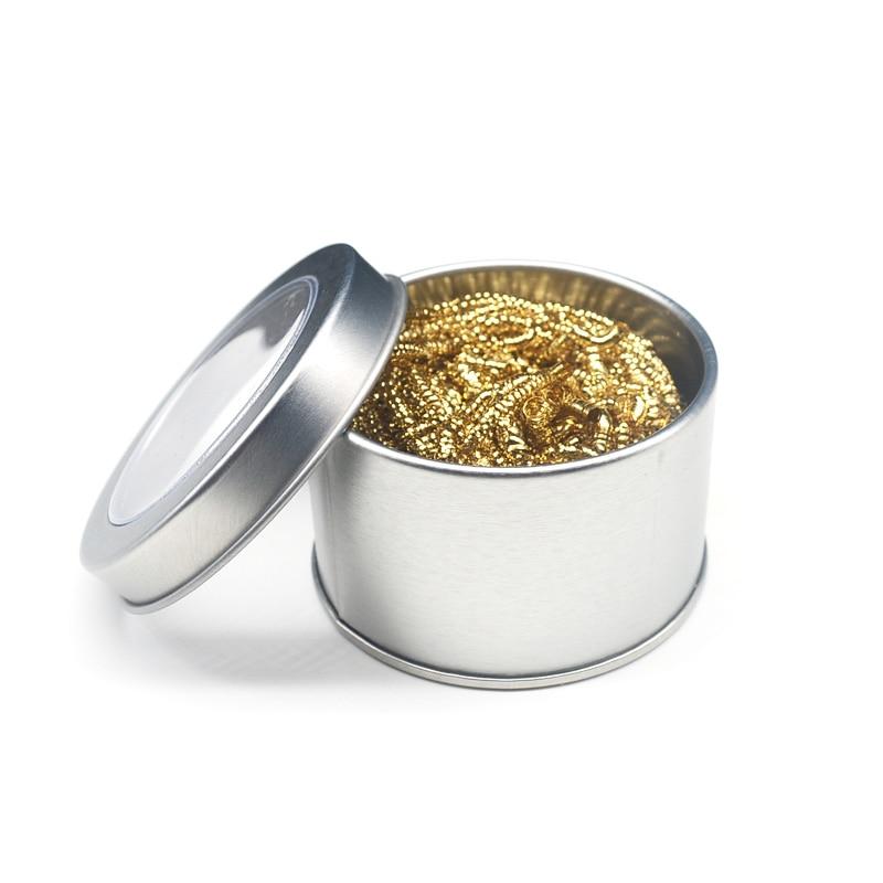 1pc boule de nettoyage dessouder fer à souder maille filtre nettoyage buse pointe cuivre fil nettoyant boule métal crasse boîte propre boule