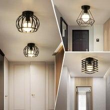 Plafonnier en fer pour couloir, nordique, vintage, minimaliste, luminaire de plafond, pour une cuisine, une entrée en fer, petit format