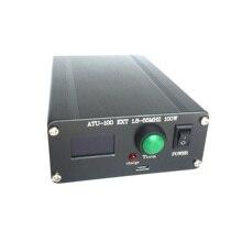 Gotowy ATU 100 1.8 50MHz ATU 100 Mini automatyczny Tuner antenowy N7DDC 7x7 + Mini 0.96 OLED + metalowa obudowa + bateria 1350MA
