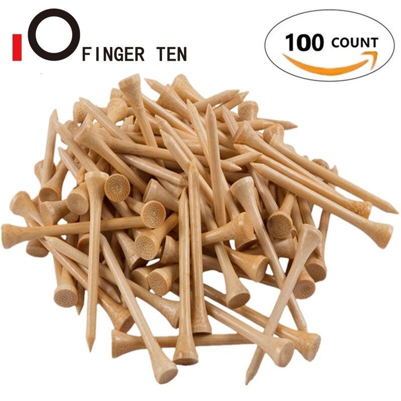 100Pcs Durable Winter Bamboo Golf Tees Wood 54mm 70mm 83mm 100mm Balls Holder Wooden Tee Golfer Sports Accessories Drop Shipping 1