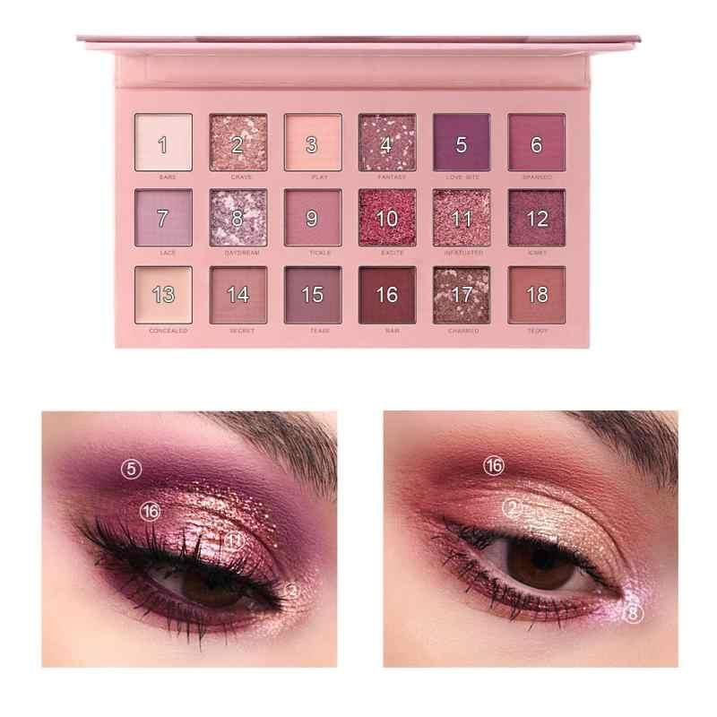 NUOVO 18 Colori nude ombretto tavolozza opaca dell'ombra di occhio di trucco tavolozza Pigmento Cosmetici impermeabile glitter eyeshadow TSLM1