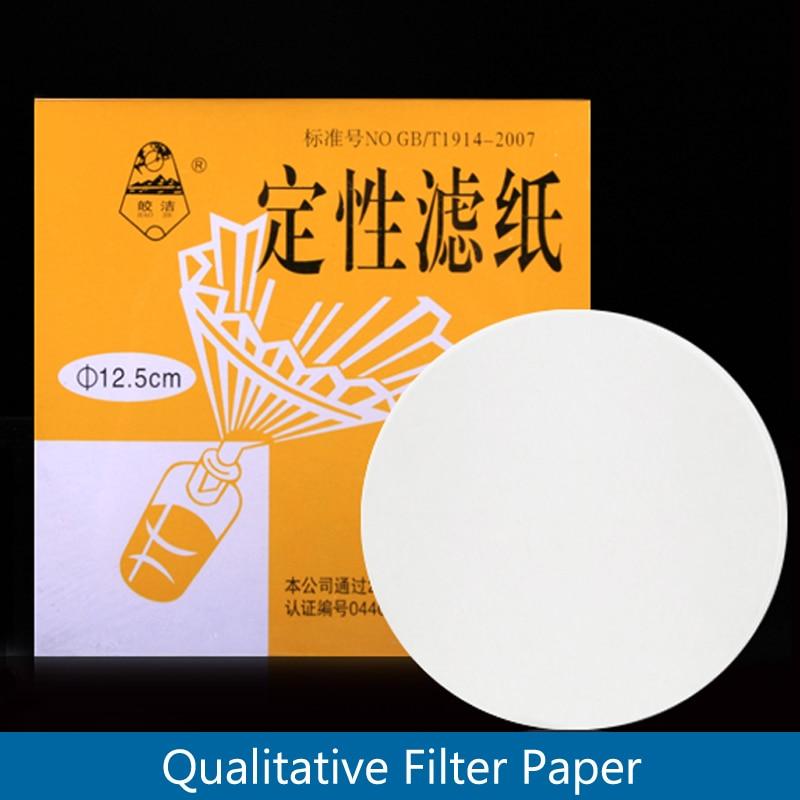 100pieces/pack Lab Qualitative Filter Paper Qualitative Grade Filter Circles JWJ The Oil Filter Paper Ffast/Midium/Slow Speed
