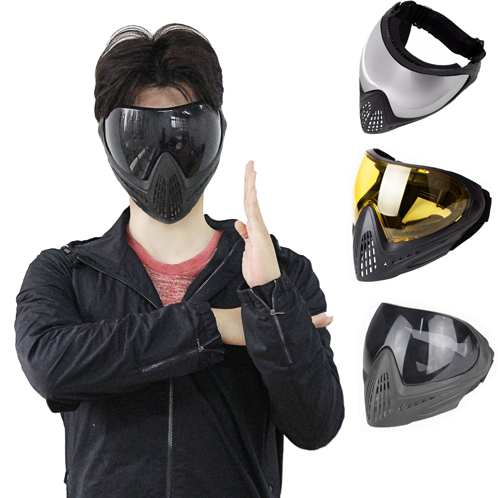 Army Military Airsoft Mask Paintball Mask Protective Anti-fog Goggle FMA F1 Full Face Mask With Black Lens