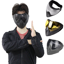 Army Military Airsoft Mask Paintball Mask Protective Anti fog Goggle FMA F1 Full Face Mask with Black Lens