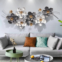 The Flowers Wall Decorations metal Art Wall Decoration Living Room Background Wall Decorative iron scandinavian style