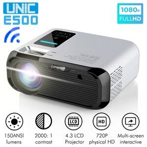 Image 1 - UNIC Proyector E500 para cine en casa, LED de 150 pulgadas, 1280x720P, 6000 lúmenes, Full HD, con HDMI, wi fi, PK CP600, para Android