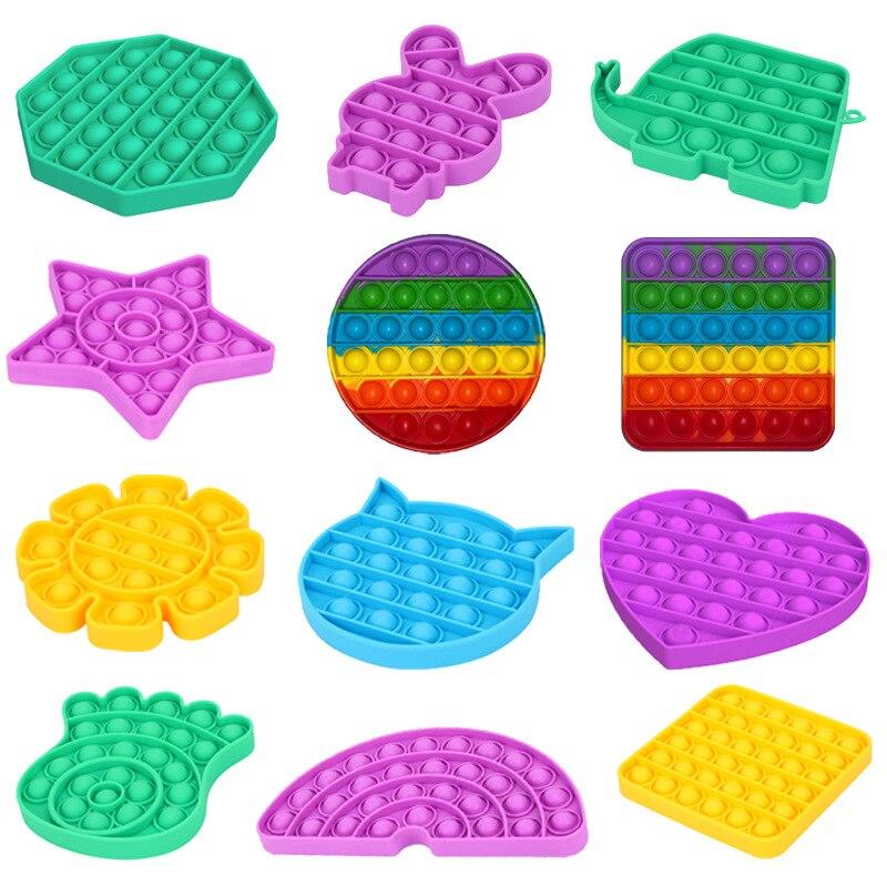 Toys Adult Bubble-Sensory-Toy Autism Reliver It-Fidget Anti-Stress Funny Squishy Push-Pop