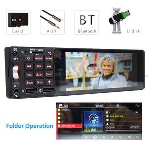 1 Din Bluetooth автомобильное радио Зеркало Ссылка IPS MP5 видео плеер Handsfree A2DP аудио USB TF 5 дюймов сенсорный экран головное устройство PHYEE 3005
