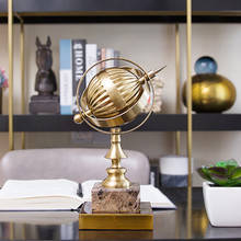 European Style Luxury World Travel Map Marble Metal Globe Decoration Gifts For Friend Birthday Housewarming Party Office Decor(China)