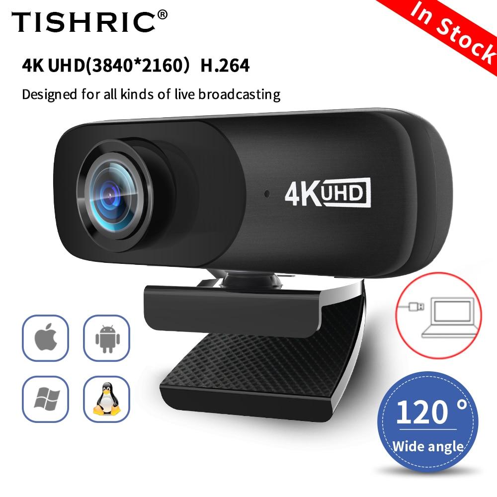 TISHRIC C160 веб-камера с высокой четкостью С микрофоном веб-Камера для компьютера 4K Usb веб-камера с разрешением Full HD 800W Пиксели ПК Веб камера Cam Ве...
