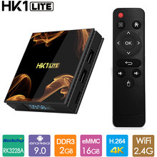 Hot HK1 Lite Android 9.0 TV Box 2GB 16GB RK3328A Quad Core 4K Streaming Media Player Wifi smart Mini PC 2G 16G HK1LITE Tvbox(China)