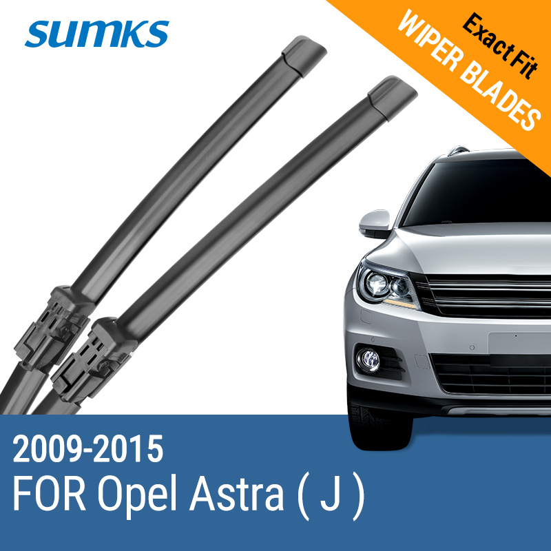 "SUMKS Viskerblad for Opel Astra J 27 ""& 25"" Fit trykknapp Arms 2009 2010 2011 2012 2013 2014 2015"