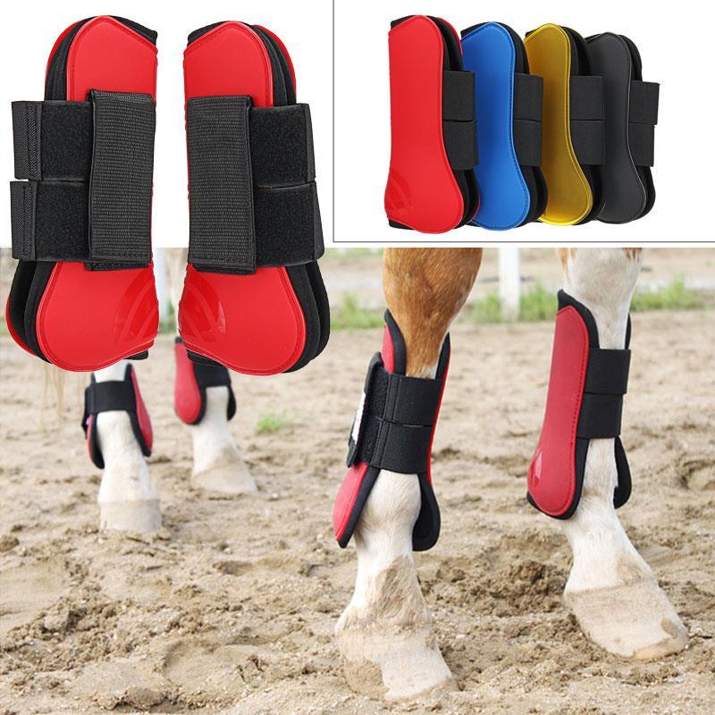 Horse Leg Riding Horse Guard Tendon Horse Leg Guard Pet PU 4 Colors Equestrian Jump Horse Guard Fetlock Horse'S Foreleg Boots
