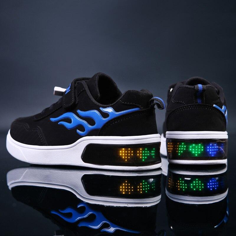 criancas levaram sapatos para meninos usb carregador 01