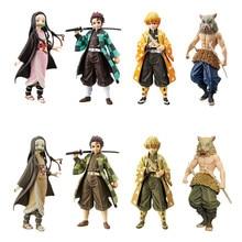 цена на Japan Anime Demon Slayer Kimetsu no Yaiba figure Kamado Tanjirou Nezuko PVC Action Figure Warrior Model Figuals Toys Gifts