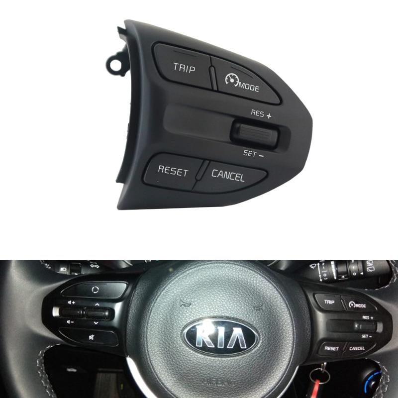 KIA K2 RIO IKSLAIN ağustos X-LINE lüks kırmızı çizgi direksiyon Cruise kontrol düğmesi Bluetooth ses telefonu ses anahtarı araba
