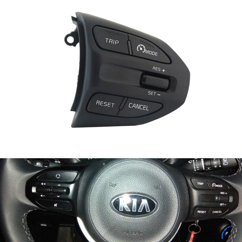 Para KIA K2 RIO IKSLAIN AUGUST X-LINE LUXE volante rojo botón de control de crucero Bluetooth Audio teléfono interruptor de volumen Coche