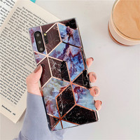 galaxy note Marble Phone Case For Samsung Galaxy A10 A20 A30 A50 A70 case Geometric Glossy For Samsung Galaxy S10 plus S10E Note 10 case (4)