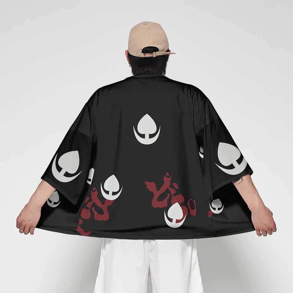 WAMNI Anime Kimono Japanischen Strickjacke Männer T shirt samurai Kostüm Streetwear 3D Batwing Hülse T-shirt Lustige Haori Yukata Männlichen