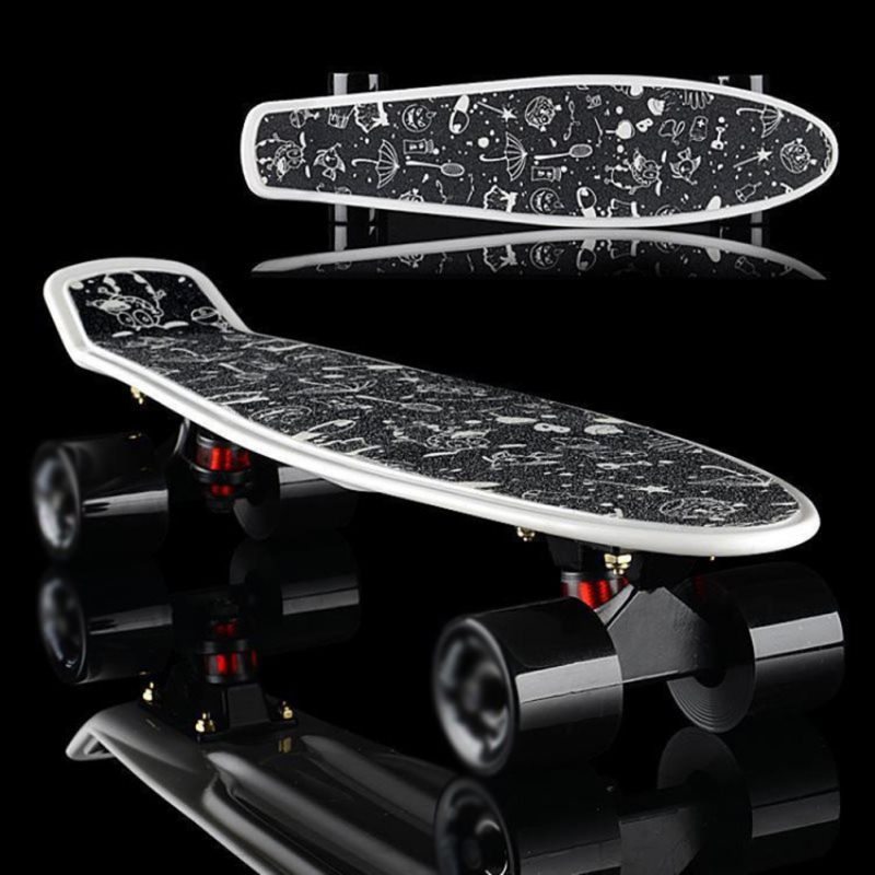 Hot! Skateboard Sticker Professional Solid/Printed Anti-slip Adhesive Single Rocker Sandpaper For Penny Board Print Patter