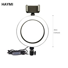 Photography 8 Inch/20 cm Dimmable LED Light Ring Light Youtube/Facebook Live Video Photo Studio Make Up Light with Table Tripod dimmable diva 12 60w led studio ring light beauty make up selfie video photo