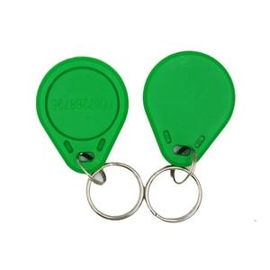 Image 2 - 100pc/lot 125khz RFID Keychain NO3 ID Keyfob RFID Tag TK4100 Access Control Card Sticker Key Fob Ring Proximity