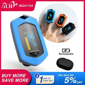 Image 1 - BOXYM רפואי נטענת אצבע דופק Oximeter דיגיטלי Oximetro דה Dedo SpO2 יחסי ציבור OLED CE Pulsioximetro קצב לב צג
