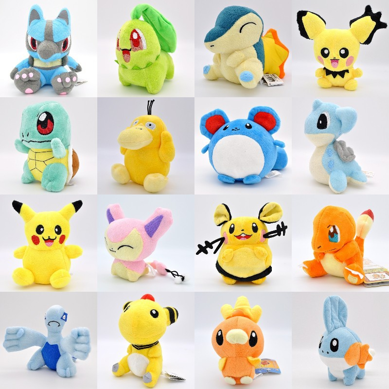 TAKARA TOMY Pet Elf Baokemeng Magic Baby Pokemon Plush Doll Jenny Turtle Duck Picachu Electric Dragon