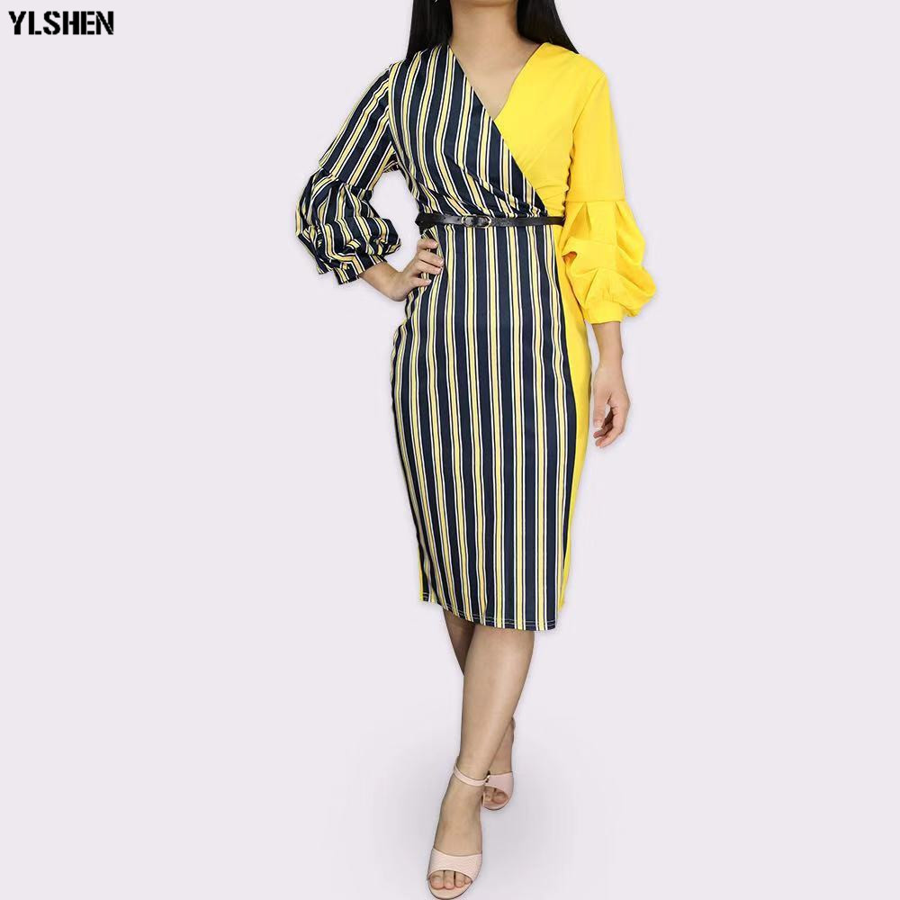 Dashiki African Dresses for Women 2019 New Bazin Riche Long Sleeve Africa Dress Ankara Fashion Elegant African Skirt Clothing 06