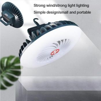 3 w 1 54 LED Camping wentylator wielofunkcyjny oświetlenie wentylator elektryczny lampa wisząca namiotowa USB ładowanie przenośny letni wentylator światła tanie i dobre opinie oobest CN (pochodzenie) Żarówki żarowe akumulator 2g11 support as shown