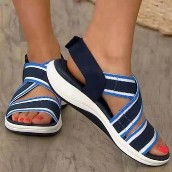 Sandals Women 2021 Summer Plus Size Comfort Soft Slip On Hollow Out Peep Toe Thick Bottom Casual Cover Heel Ladies Female Sandal