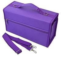 80 slots de grande capacidade dobrável marcador caneta caso arte marcadores caneta armazenamento saco transporte durável esboço ferramentas organizador roxo