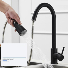 Swivel Durable Kitchen Faucet Tap Single Hole Brushed Nickel Stream Rotation Mixer Sink Pull Out Handle Sprayer Spray Nickel цена